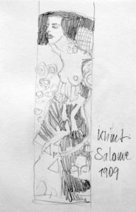 Wolfgang Krisai: Gustav Klimt: Salome. Bleistift-Skizze.